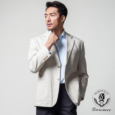 BARONECE 英式休閒條紋時尚獵裝_米色(510312-05)