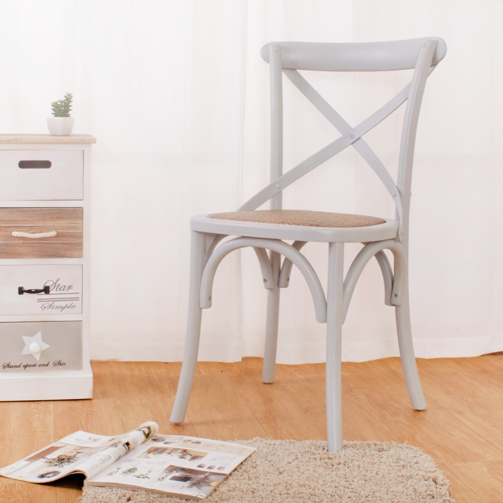 Boden-瑪克斯仿舊復古實木餐椅-藍灰色(四入組合)-46x47x88cm