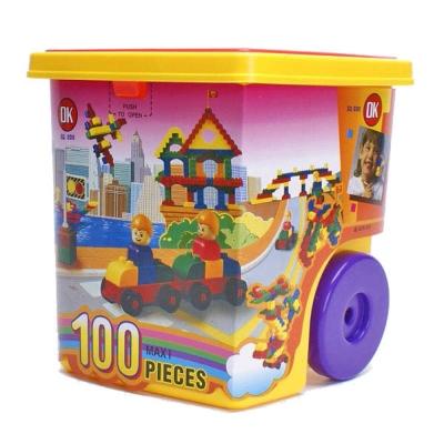 【OK積木】小小登機箱系列/大顆粒100入裝