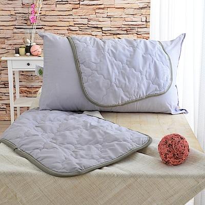 LooCa 天然防蹣防蚊竹炭枕用保潔墊 2入