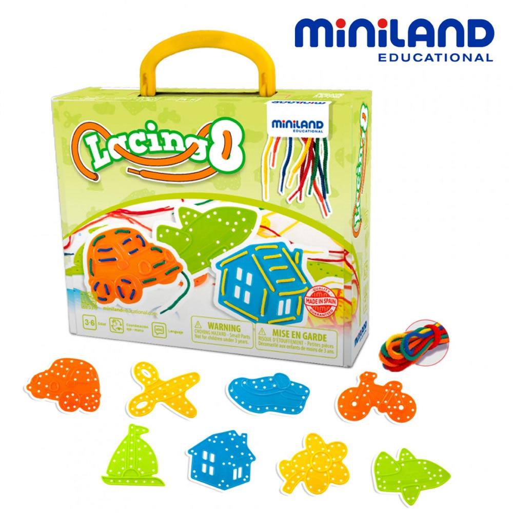 【西班牙Miniland】生活學習穿線串串樂-8入組