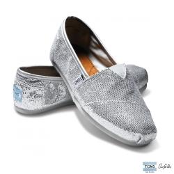 女-TOMS Silver Glitters 亮亮銀