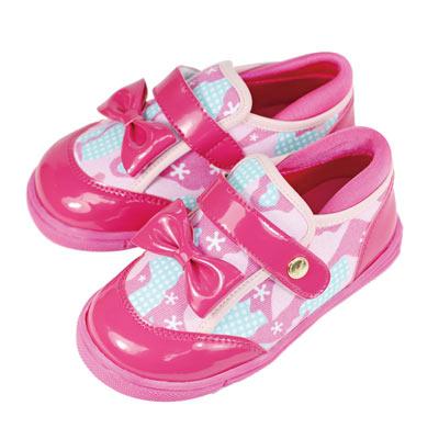 Swan天鵝童鞋-漆皮迷彩布運動休閒鞋 3726-桃