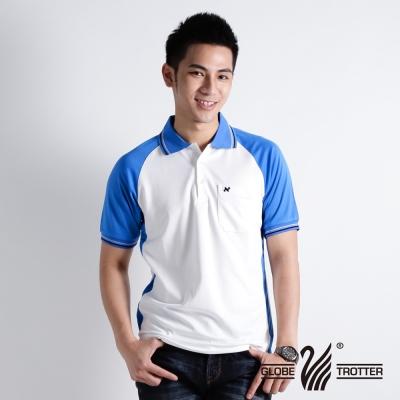 【遊遍天下】男款抗UV吸濕排汗機能POLO衫NS004寶藍