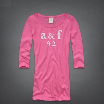 AF a&f Abercrombie & Fitch KID 長T 粉紅 0030
