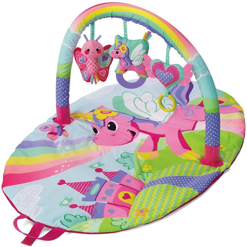 美國 Infantino 寶寶健身遊戲墊-粉紅小馬