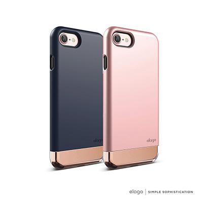 elago iPhone 7 雙層耐衝擊手機保護殼-鉻金特別版
