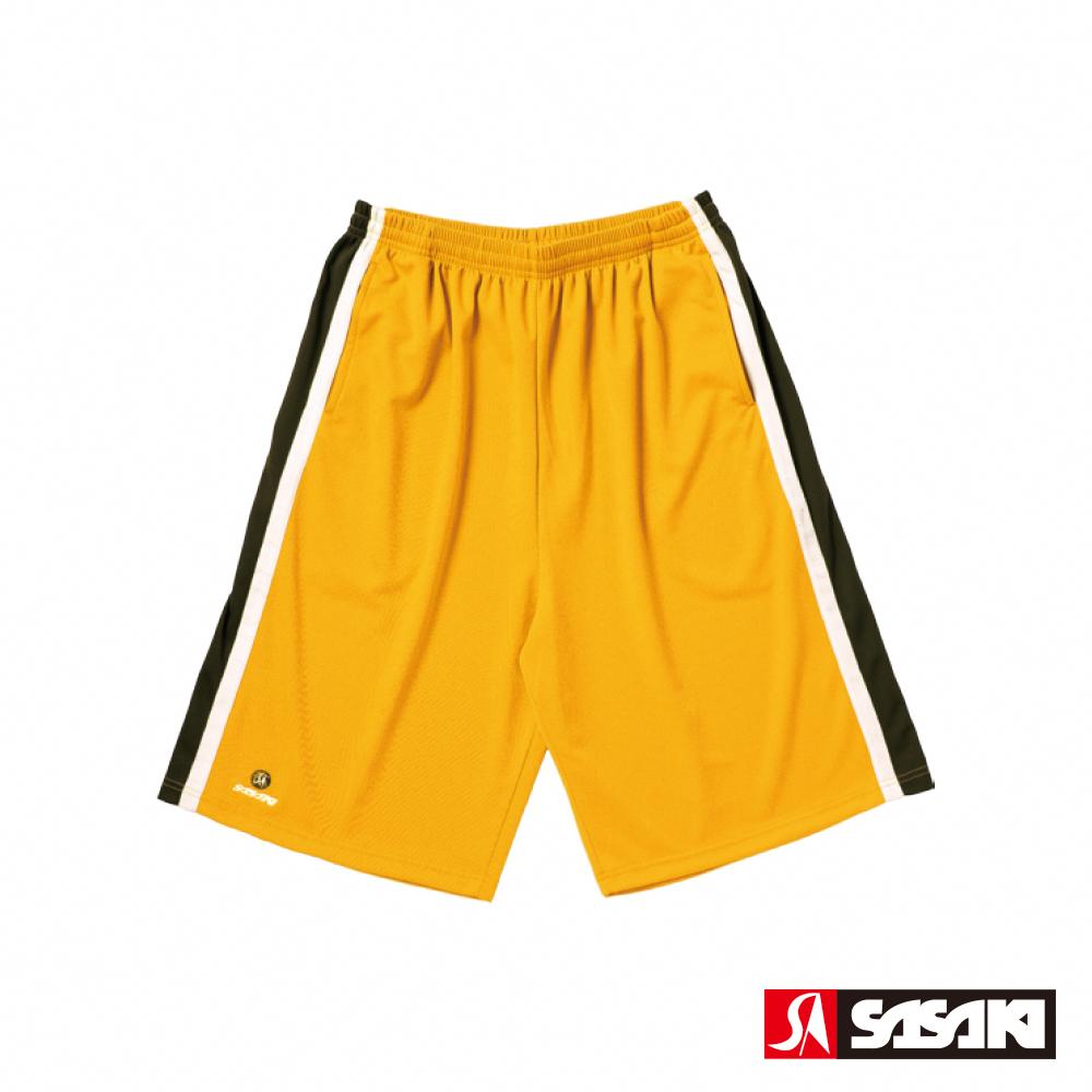 SASAKI 長效性吸排籃球短褲-男-湖人黃/黑
