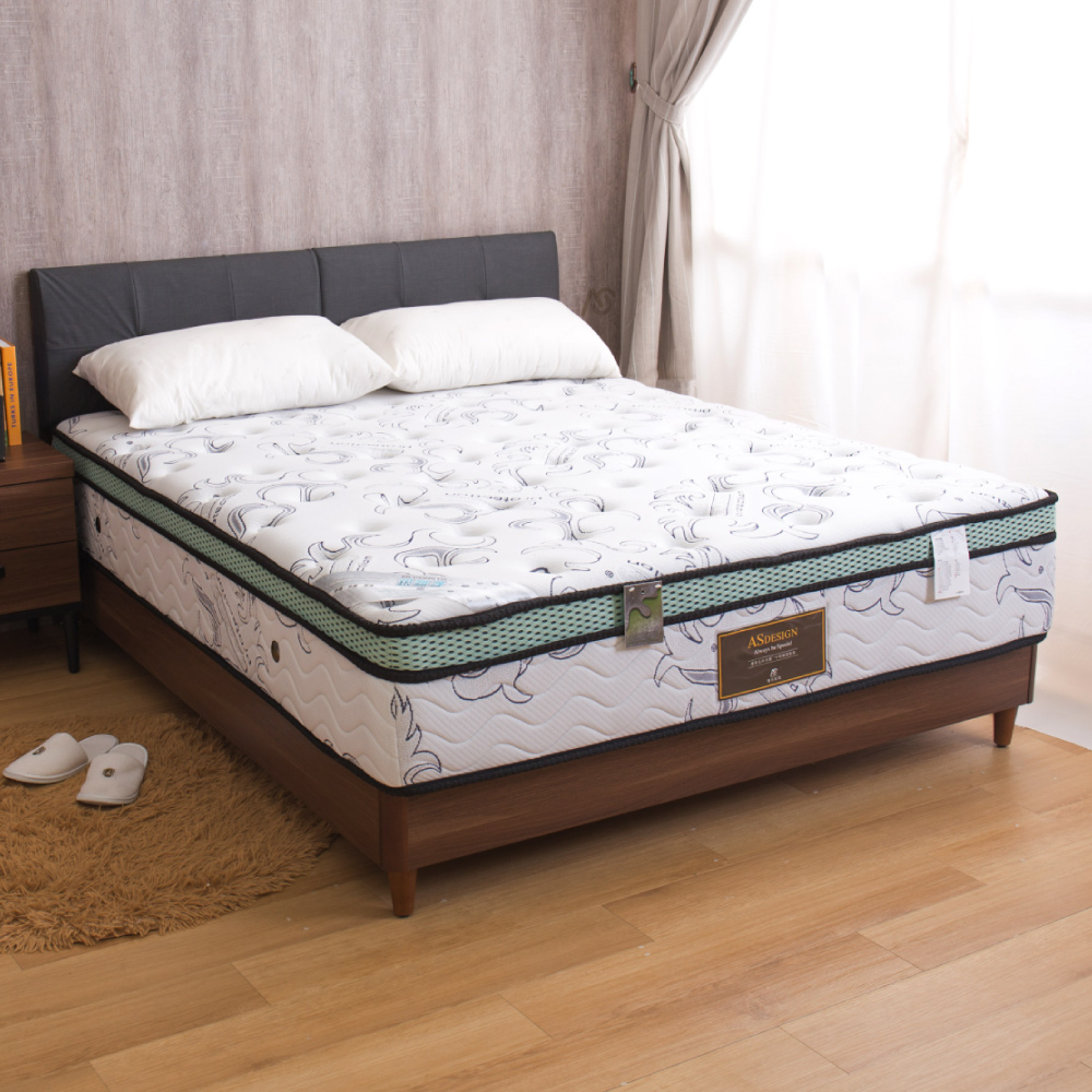 巴澤爾 透氣舒眠正三線硬式單人加大3.5尺高密度獨立筒床墊