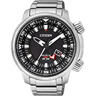 CITIZEN PROMASTER 光動能雙時區腕錶(BJ7081-51E)-黑/46mm