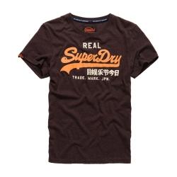 SUPERDRY 極度乾燥 短袖文字T恤 --酒紅