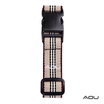 AOU 台灣製造 多用途行李外扣帶旅行省力好幫手 (米紫) 66-028D3