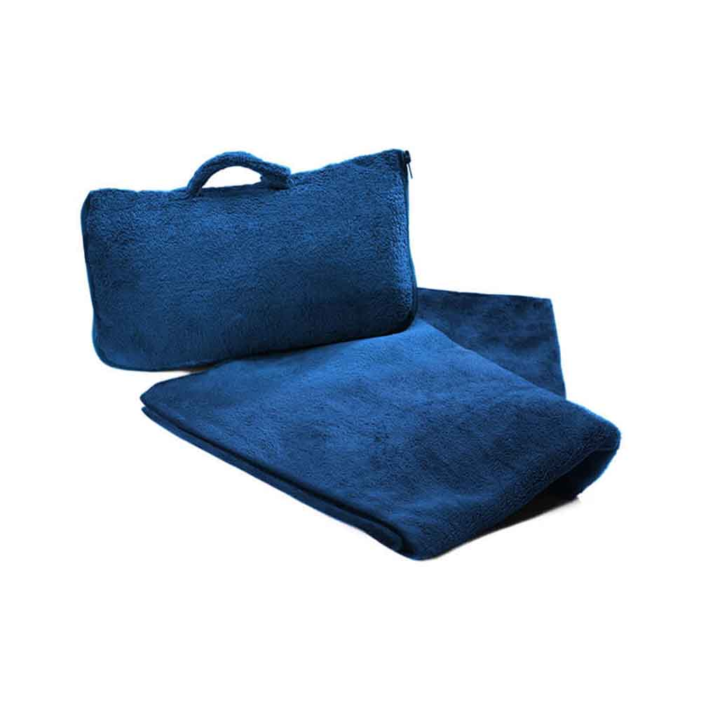 CABEAU 保暖飛機毯-藍色