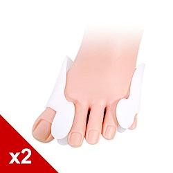 糊塗鞋匠 優質鞋材 J13 柔軟拇指固定墊 軟矽膠 間隔加保護墊 2雙