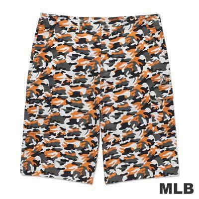 MLB-紐約洋基隊休閒迷彩短褲-桔(男)