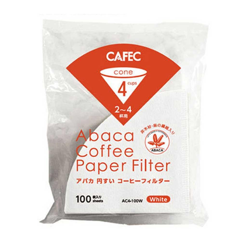 CAFEC AC4-100W V02麻纖維咖啡濾紙100入*2包(HG5003W*2)