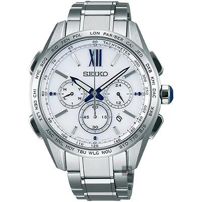 SEIKO精工 Brightz 耶誕限量鈦計時太陽能電波腕錶(SAGA223J)