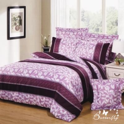 BUTTERFLY 柔絲絨 加大薄床包枕套三件式-浮世年華