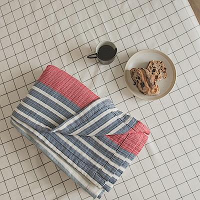 翔仔居家 雙層紗涼毯-150x200cm(夏日紅) 台灣製