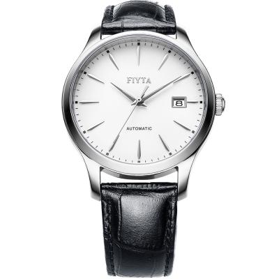 FIYTA飛亞達   經典系列復古機械錶款(WGA1010.WWB)-白色/40mm