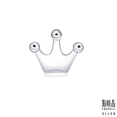 點睛品 Ear Play 鉑金皇冠單邊耳環