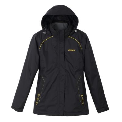 ATUNAS 歐都納 女款防水透濕輕量兩件式外套 A1-G1282W 黑