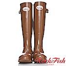 ROCKFISH 時尚百搭顯瘦長筒雨靴 繽粉系列 氣質駝