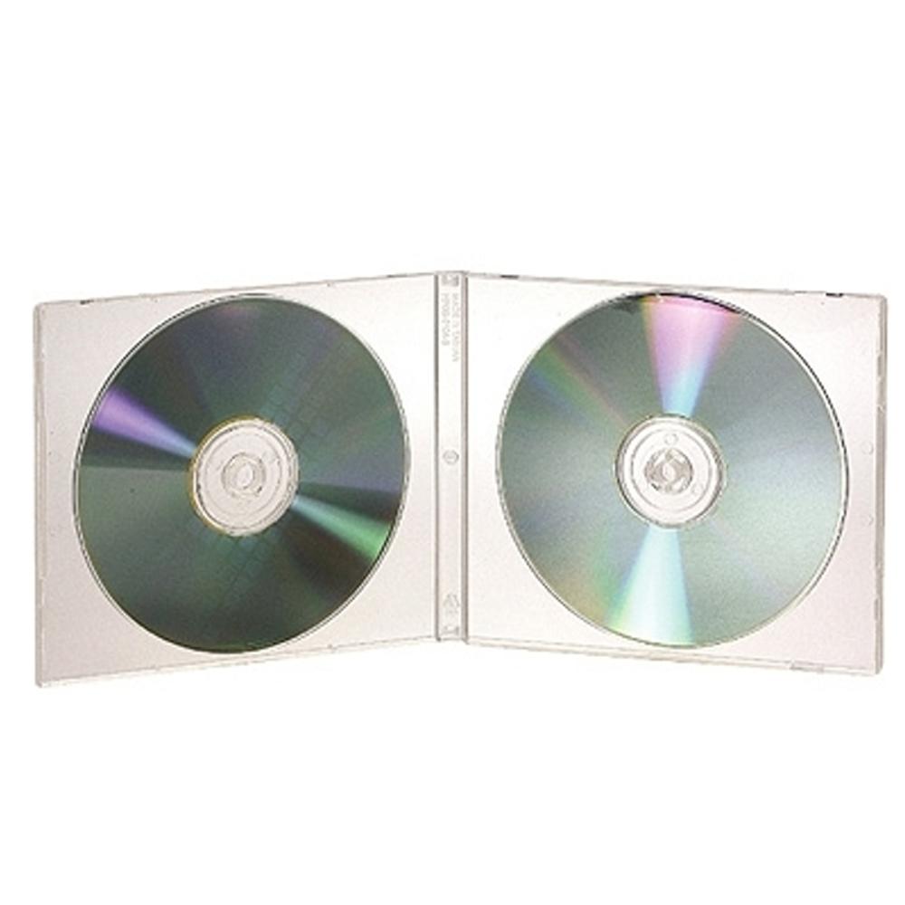 DigiStone2片裝標準型軟殼收納盒白色透明 100片