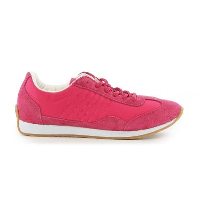 TOP GIRL-古著風復古慢跑休閒鞋-桃紅