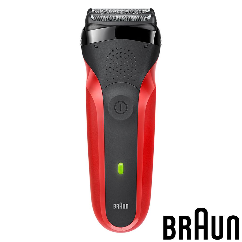 (福利品)德國百靈BRAUN-三鋒系列電鬍刀300s(紅色)