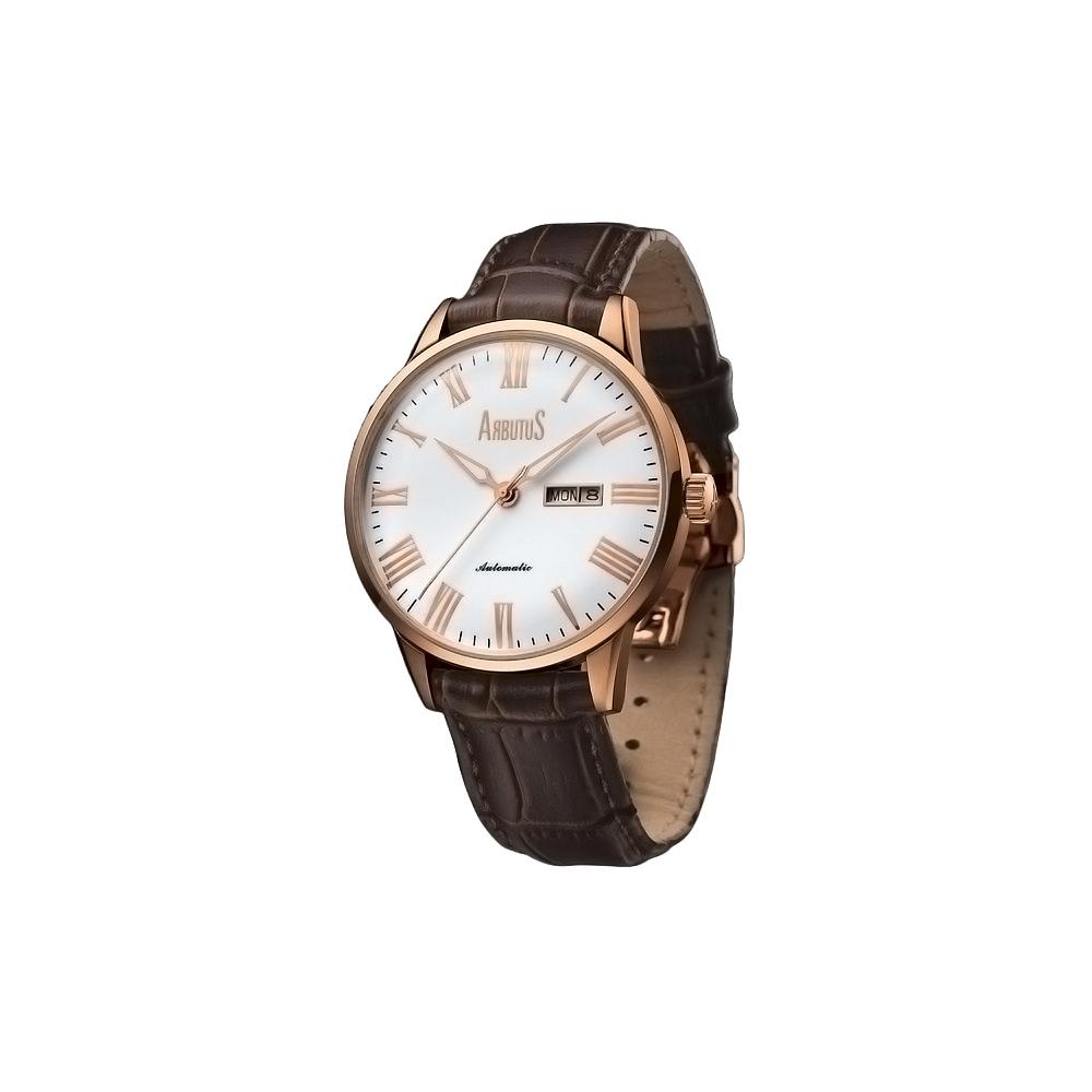 ARBUTUS愛彼特羅馬時標時尚機械錶-白/42mm