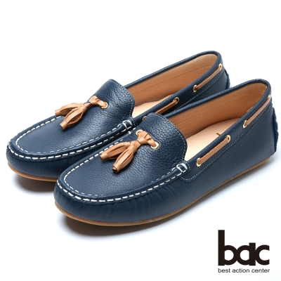 bac經典時尚 優雅品味帆船鞋-白