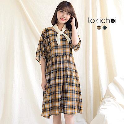 東京著衣 鄉村女孩格子洋裝-S.M.L(共二色)