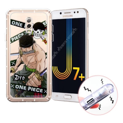 航海王 Samsung J7+/J7 Plus 透明軟式空壓殼(封鎖索隆)