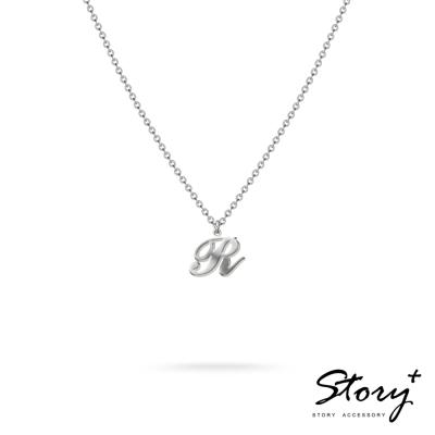 STORY ACCESSORY-字母系列-字母R 純銀項鍊