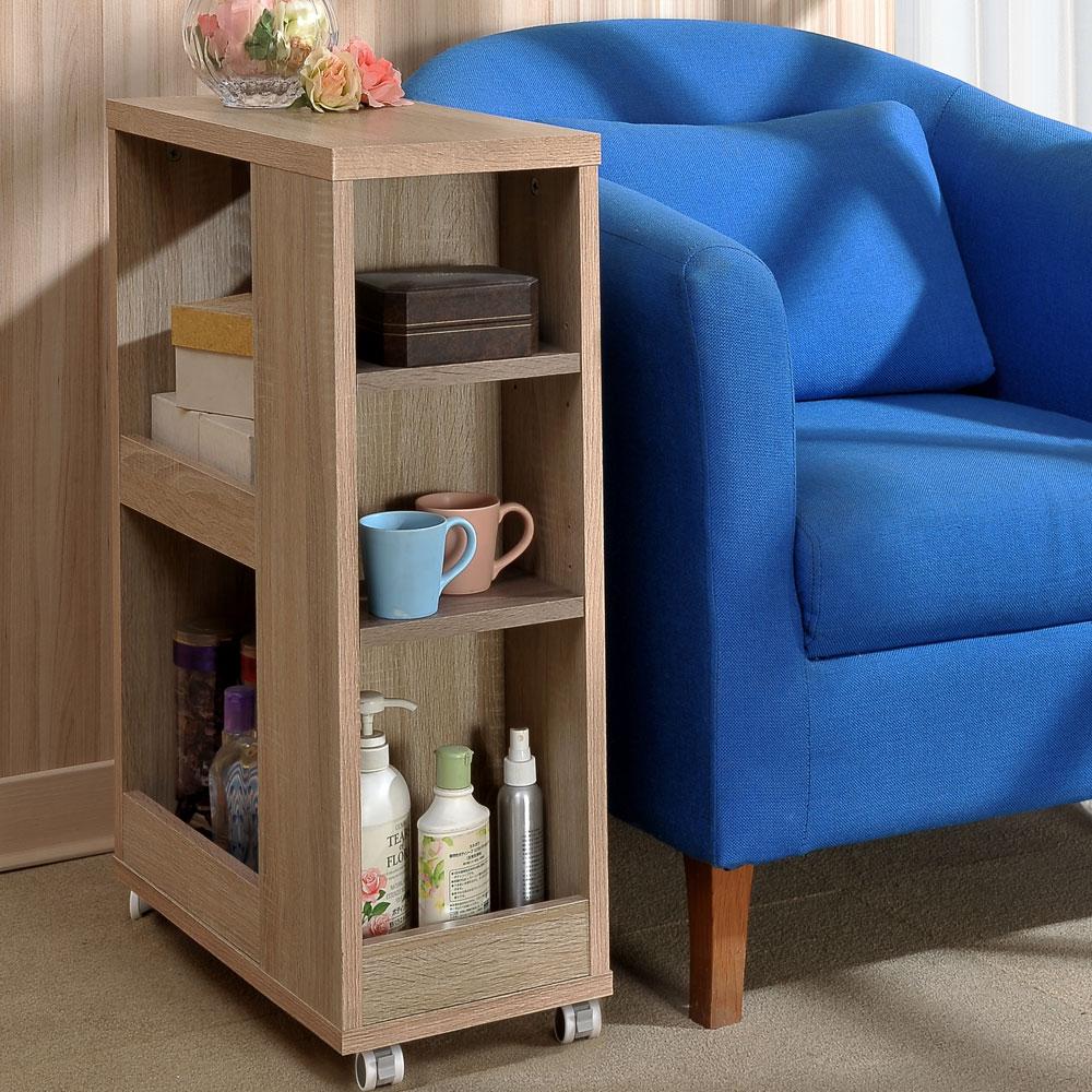 Asllie凱莉側邊櫃/隙縫櫃/細縫收納櫃/開放式收納桌 -25x50x75 cm