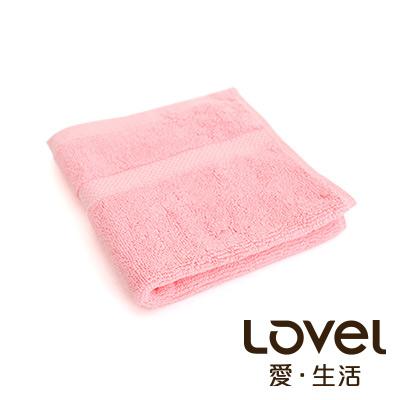 LOVEL 嚴選六星級飯店精選款-小方巾(玫粉)