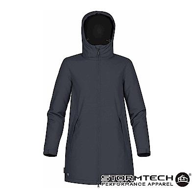 【加拿大STORMTECH】SPK-1W防撥水細刷毛長版機能外套-深藍