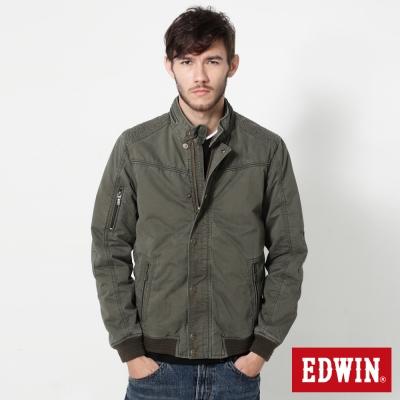 EDWIN-肩繡騎士風鋪棉防寒外套-男-苔綠