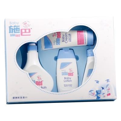 [領券再折][時時樂限定68折] sebamed施巴 嬰兒粉藍熊語禮盒
