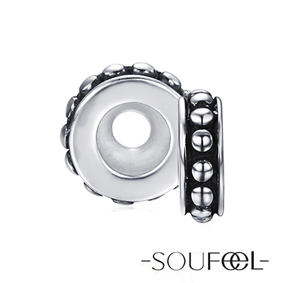 SOUFEEL索菲爾 925純銀珠飾 圓點 定位珠