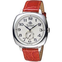 玫瑰錶 Rosemont 戀舊系列獨立秒針復古腕錶-紅/40mm