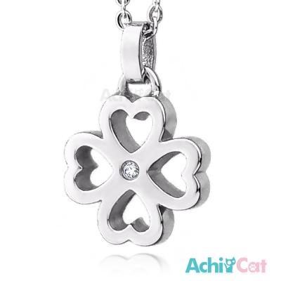 AchiCat 珠寶白鋼項鍊 小幸運草