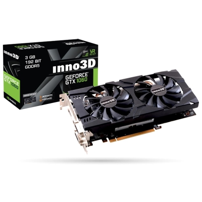 映眾顯示卡Inno3D GeForce GTX1060 3GB GDDR5 Twin X2