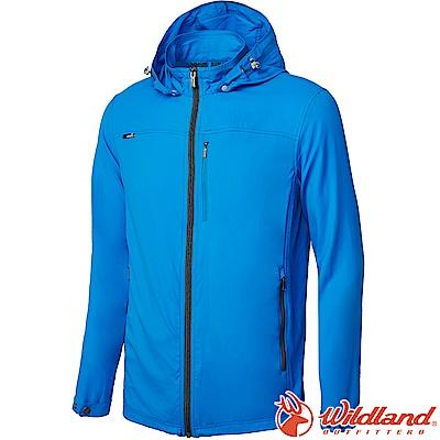 Wildland 荒野 0A61902-45地中海藍 男彈性抗UV輕薄外套
