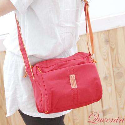 DF-Queenin-甜美日系女孩實用型防水悠閒斜肩包-共4色