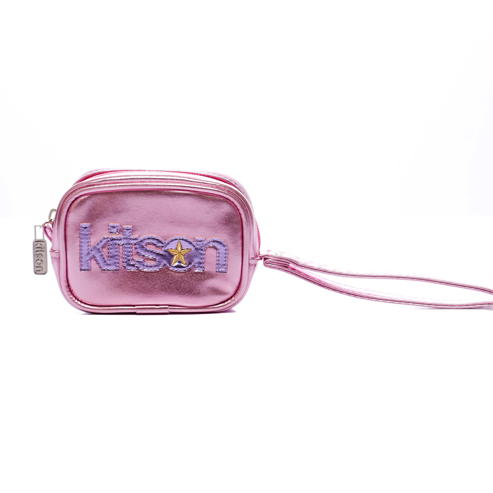 kitson 金屬光數位相機包 / 隨身包-PINK