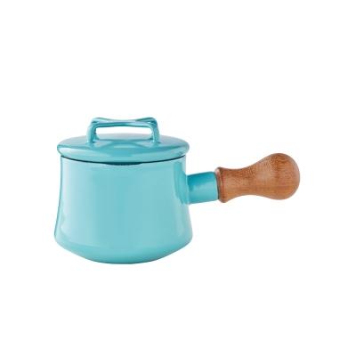 DANSK-琺瑯單耳燉煮鍋13cm-藍綠色