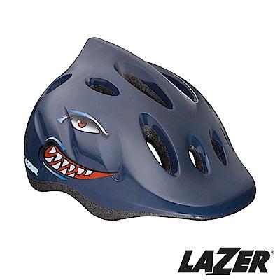 LAZER比利時MAX自行車兒童安全帽49-56cm小鯊魚