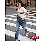 吊帶褲 牛仔 膝蓋刷破 彈性布料 - Levis
